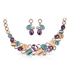 FU976-1 dubai 18K gold plated necklace and earrings set jewelry