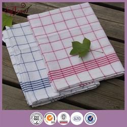 China supplier plain organic cotton tea towels