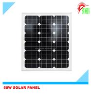 A grade 50 watt 18 volt monocrystalline solar panel