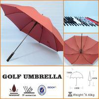 straight poe single canopy golf umbrella for sport advertising