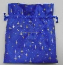 Apple Phone packing bags, Printed with snowflake blue fabric drawstring gift bags for packing festive gifts