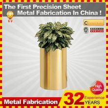 2014 new fashionable hot sale customzied mini metal flower pot with 32 years experience