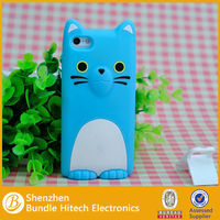 Cute design 3d silicon animal case for apple iphone 5