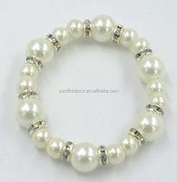 artificial fake imitation pearl diamond bracelet