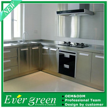 2015 EVER GREEN Stainless Steel knock down kitchen cabinets,modular kitchen designs
