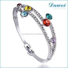 Electroplated Fashion Bridal colorful crystal Bracelet Wholesale