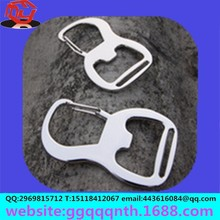 hot sell bottle opener stainless steel Aluminum alloy carabiner hook retractable key chain Mountain buckle
