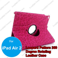 Leopard Print 360 Degree Rotary Smart PU Leather Stand Case for iPad Air 2