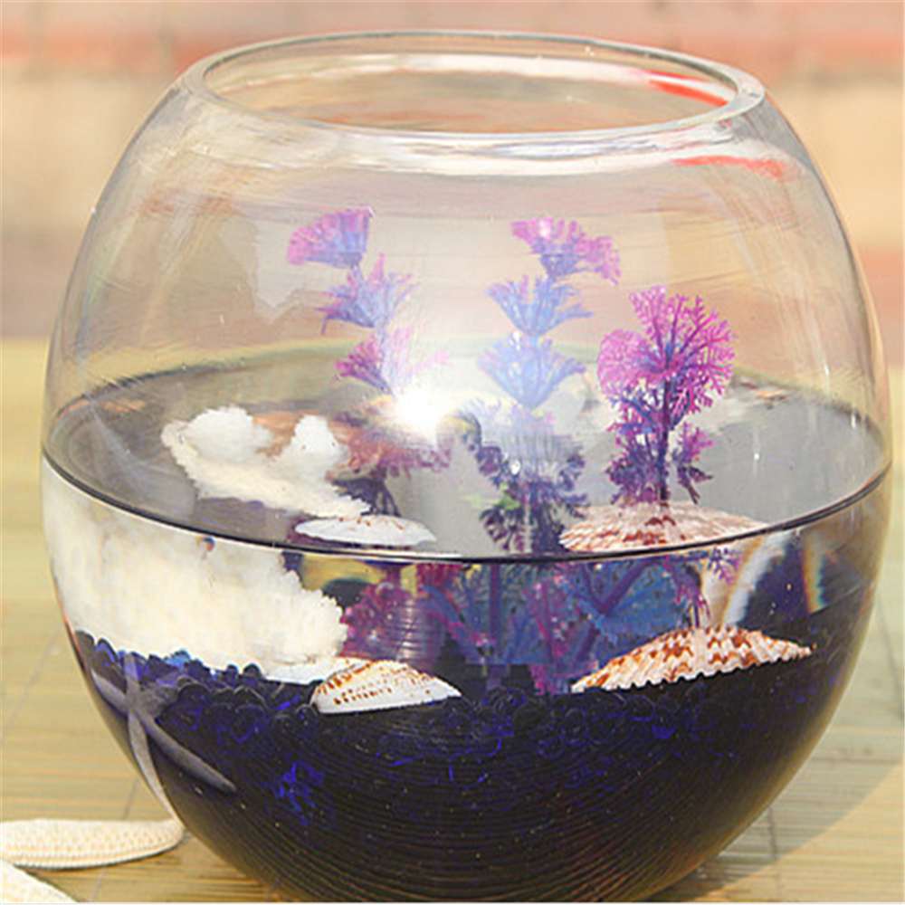 Round flower bowl fish bowl wholesale glass bowl buy for Fish bowls in bulk