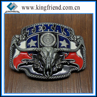 Hot Sell Texas Skull Flag Belt Buckle, Metal Belt Buckle