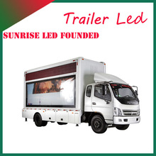 Sunrise Innovative Design Outdoor LED Mobile Advertising Truck Equipped with multimedia playing system