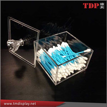 Manufacturer Acrylic Mini Box Q-Tip and Lipstick Container, Acrylic Makeup Mini Q-tip Container, Acrylic Storage Boxes for Sales