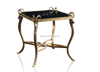 Small Wood Animal Coffee Table, Baroque Style Luxury Coffee Table