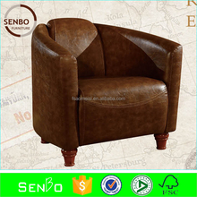 2015 latest soft couch / sofas for living room / classic chair designs brown leahter chair