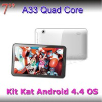 Trade Assurance $155000 top sale tab 7inch A33 quad core android tablet pc vehicle pc android 4.4 tablet