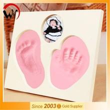 2015 footprint handprint photo frame souvenir for birth of baby