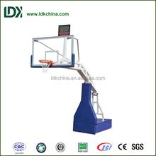 Can be customized indoor adjustable hydraulic basketball hoop