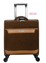 Washer wrinkle fabric four wheels carry-on luggage