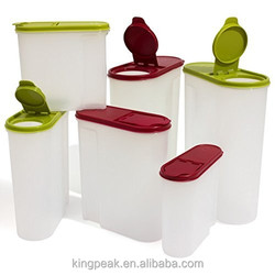 2015 Best selling Large red 5 litre cereal container with lid/cereal storage container with lid