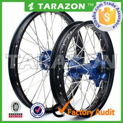 Wholesale Tarazon Brand CNC Aluminum Motocross 21/18 Inch Motorcycle Spoke Wheel Sets for YZ125/250