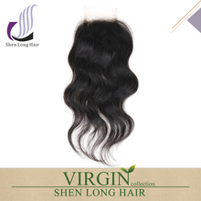 Cheap brazilian human hair lace closure light brown lace closure curly wave lace front closure