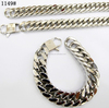 316l stainless steel silver color cuban chain