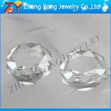 Brilliant cut flat back white cubic zirconia/Arificial gemstone