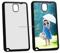 Soft TPU Blank Sublimation Mobile Phone Case for Note3 N9006 with aluminum plate
