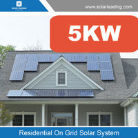 Free maintenance 5kw on grid 3kw solar power system include solar panel price 260w also with home inverter