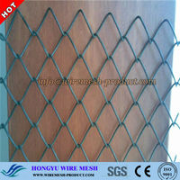 rubber coated chain link fence/black powder coated chain link fencing