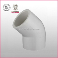 Wengshi Plastic Factory pvc-U 45DEG shower elbow connection for water supply pvc elbows angles