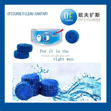 bathroom solid toilet bowl cleaner flush blue block