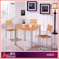A0832 wood and stone dining table oval extendable