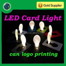 Novelty mini light bulb folding card light cheap promotion gift
