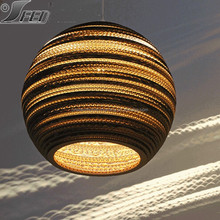 decorative pendant light /Recycled cardboard round vintage industrial pendant light