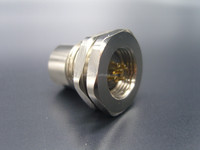 M12 waterproof cable welded M12 fixed socket front nut solder female quick connector ip68 connector