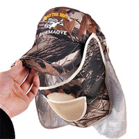 Multi-use Camouflage Hunting Hats Quick-Dry Anti-UV Sun-Proof Fishing Cap Fashion Military Style Caps