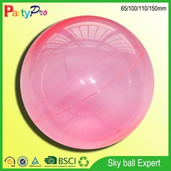 BSCI and Disney Social Audit Factory 2015 new products alibaba China custom bouncing plastic hollow ball