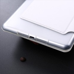 LETSVIEW Top Selling Rated High Quality PU Smart Flip Leather Case Stand Transparent Soft Silicone Back Cover for Ipad Mini 1 2