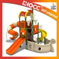 Pirat ship with tube slide amusement park outdoor EAST design