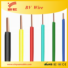 6 mm2 BV electrical wire PVC insulated wire and cable