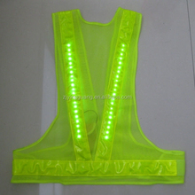 High Visibility Wholesale LED Safety Vest, LED safety Clothing