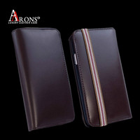 Leather wallet purse mobile phone leather case for iphone 5s