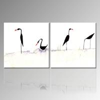 Birds Canvas Paintings Art/Animal Watercolor Painting/Modern Home Decor Canvas Art