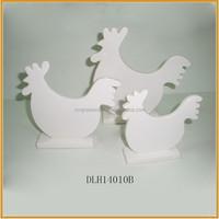 wholesale white ceramic easter cock ornament porcelain cock