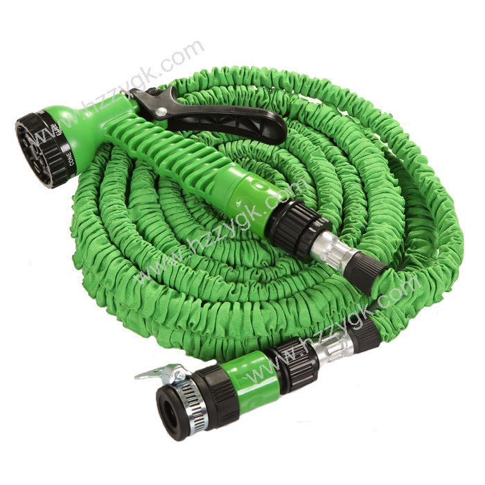 Expandable garden water hose with universal faucet and high pressure garden water jet hose for High pressure garden hose nozzle