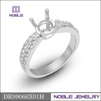 2015 18K white gold semi mounting diamond ring for women