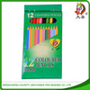 3.5inch wood writing color pencil in box supply for school &office