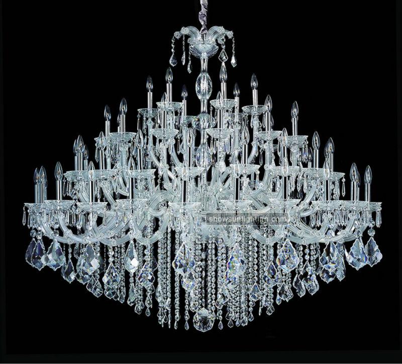 Diamond Chandeliers Lighting : Large hotel chrome diamond chandelier earrings pendant