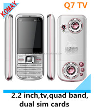 KOMAY Mobile phone Q7 with quad band and dual sim card cell phone.